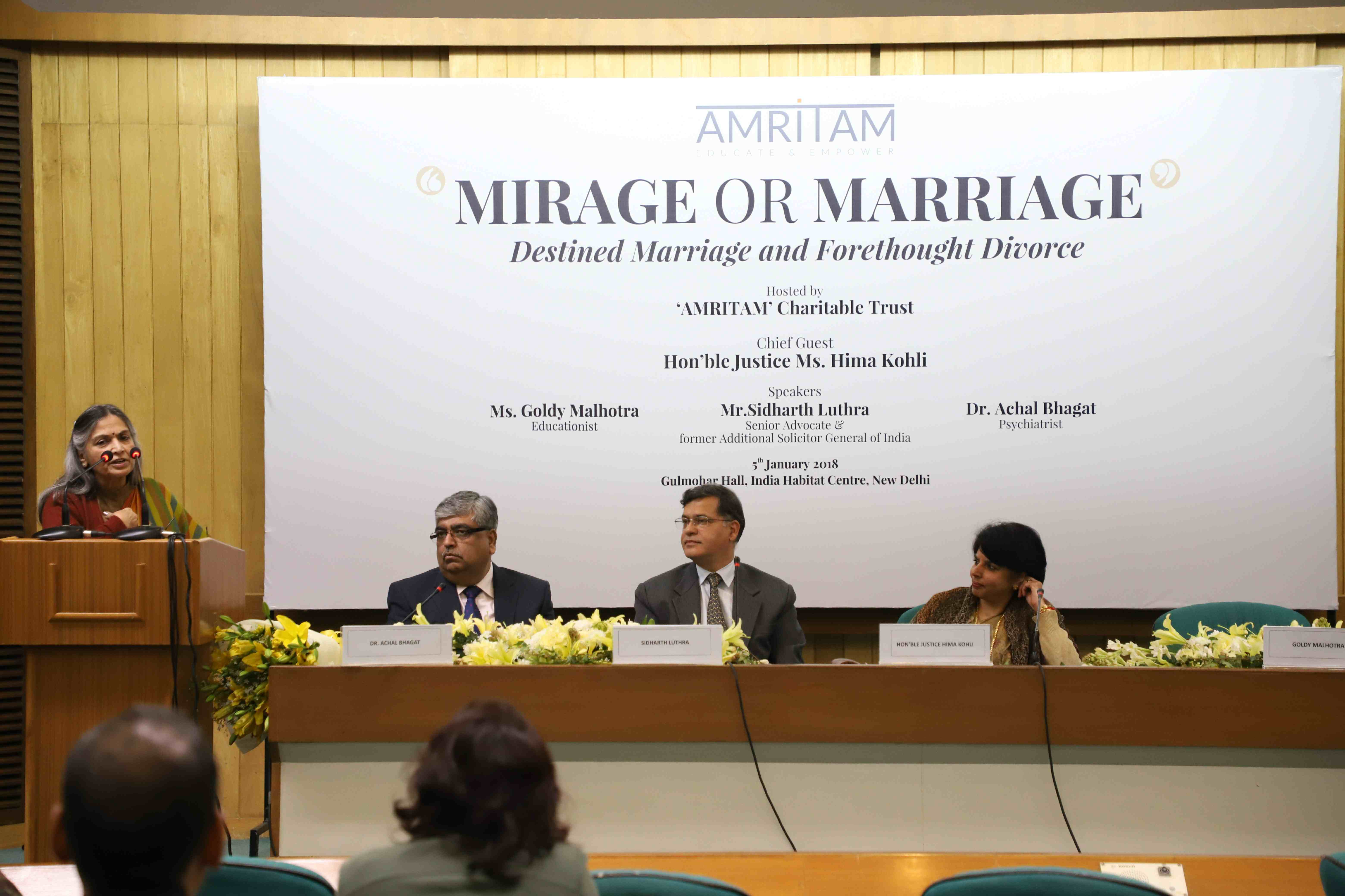 Seminar held in New Delhi highlights the growing menace of forethought divorce