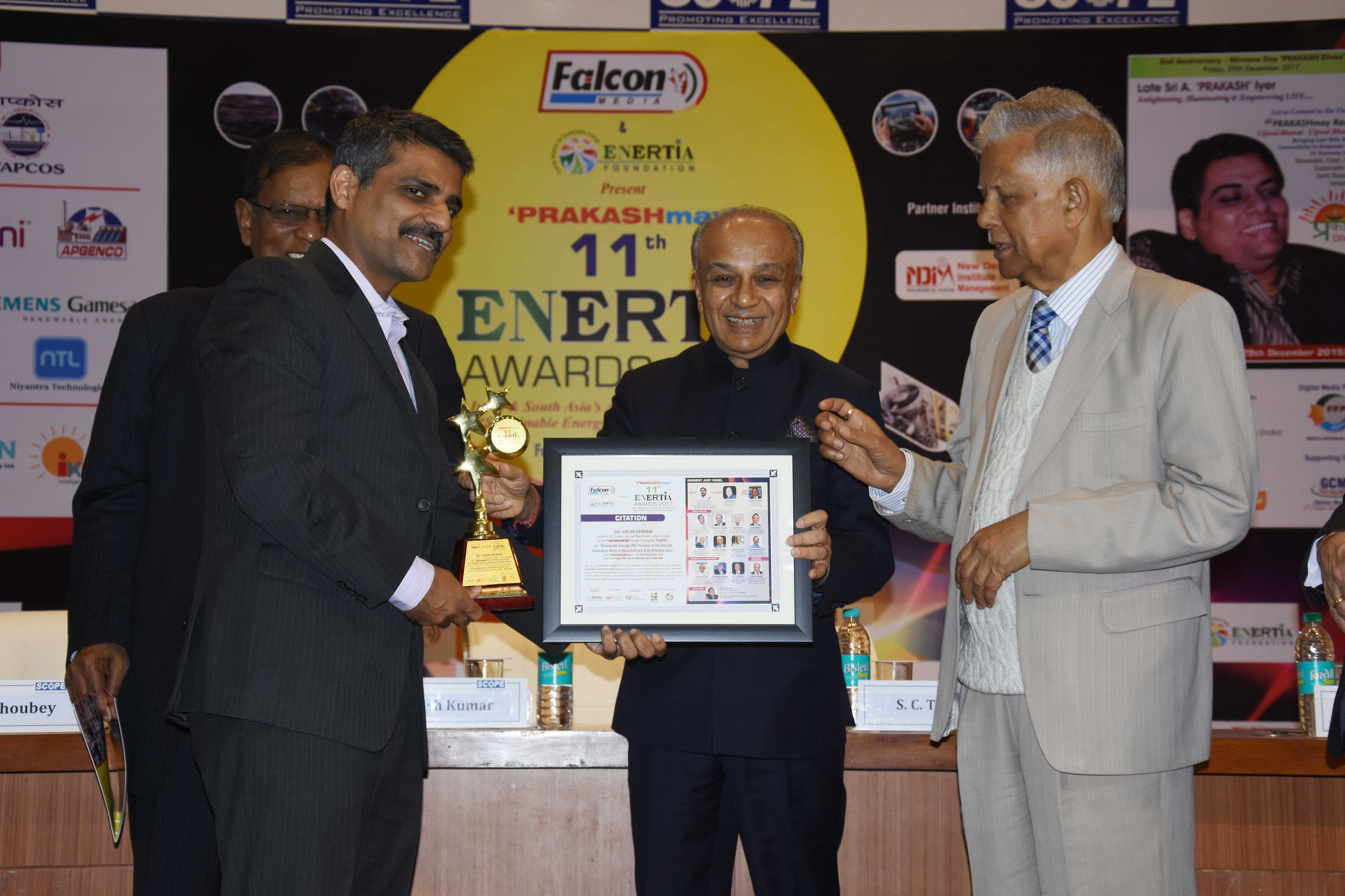 ENERTIA Award recognizes 'Power and Energy Persona of the Decade'