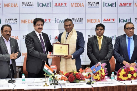 Sandeep Marwah Honored by Fiji Government
