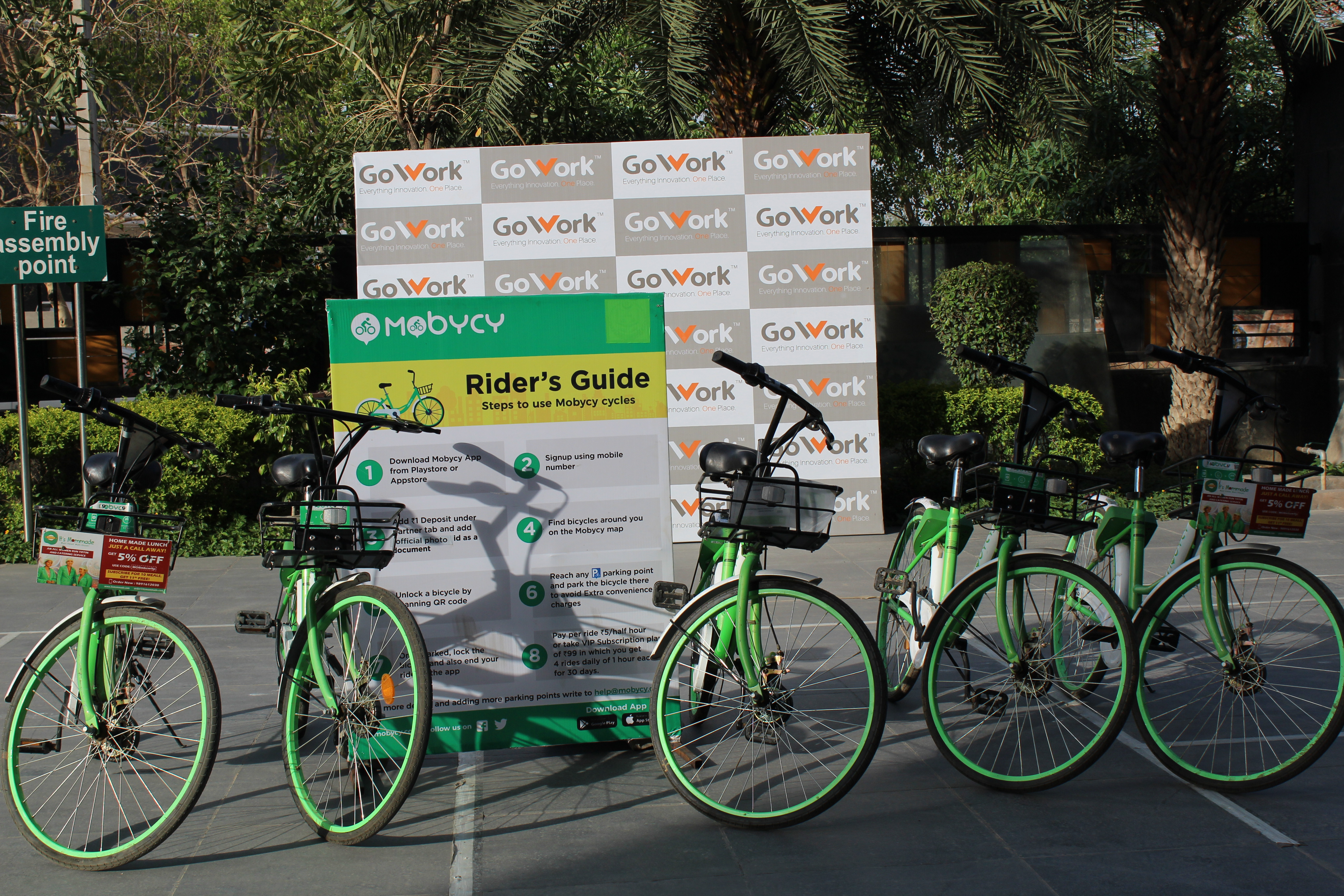 Mobycy to provide bicycles on its campus  to incorporate green practices