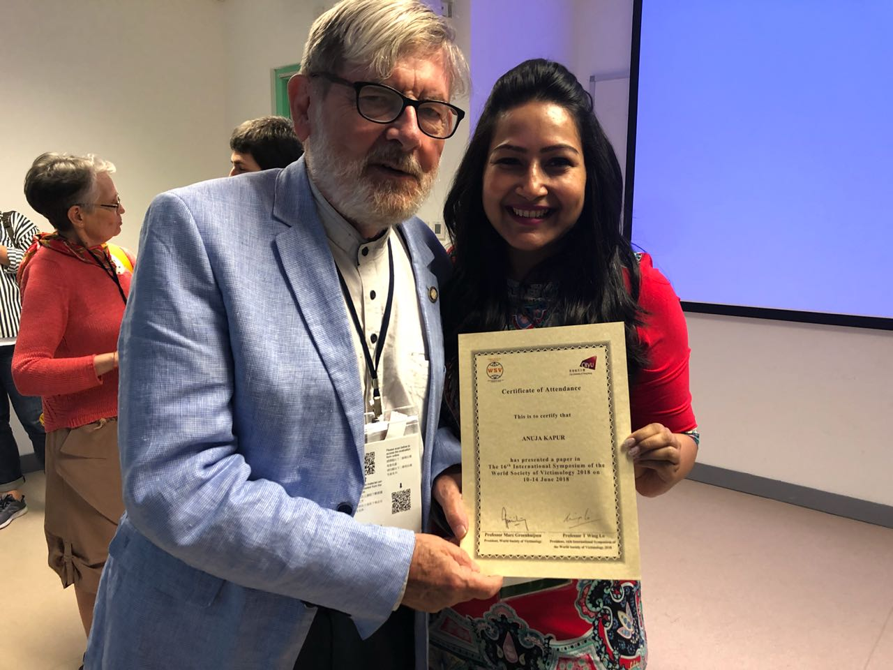 World Society of Victimology 2018 discusses Acid attack laws in India