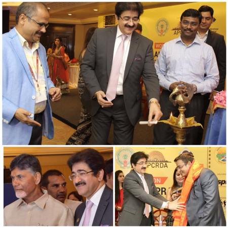 Sandeep Marwah Invited To Start Media City In Andhra Pradesh