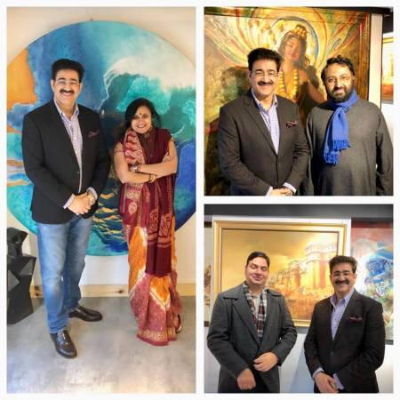 Sandeep Marwah Inaugurated The New Art Gallery in Town