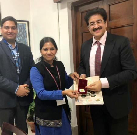 Sandeep Marwah Invited by Andhra Government to Start Film City
