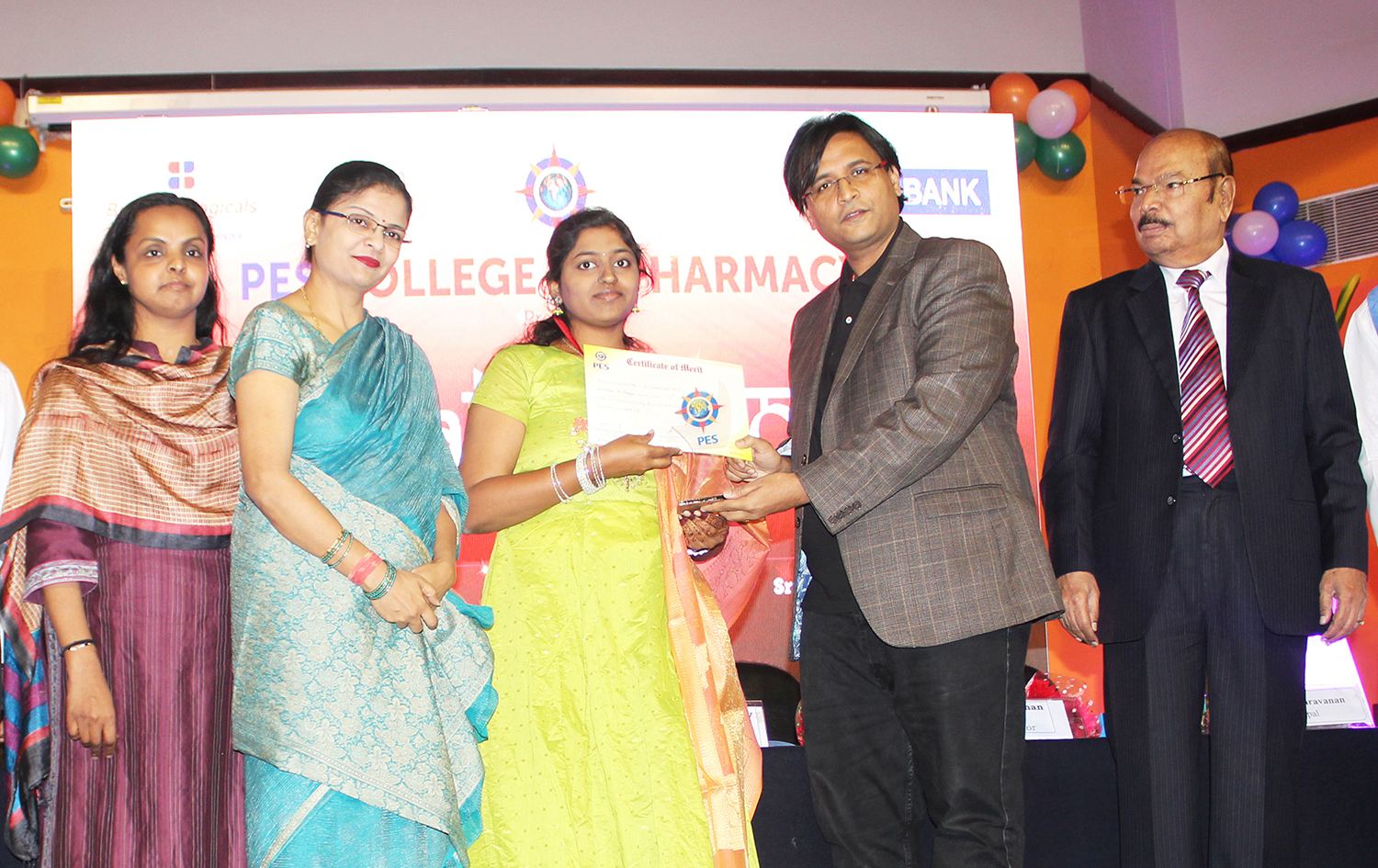 British Biologicals awards scholarship to PES Pharma Students