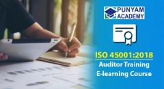 Online Course for ISO 45001 Auditor Training Introduced on Punyamtraining.com