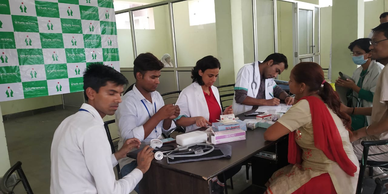 Health Camp in Hissar offered Free Medical services to over 700 people