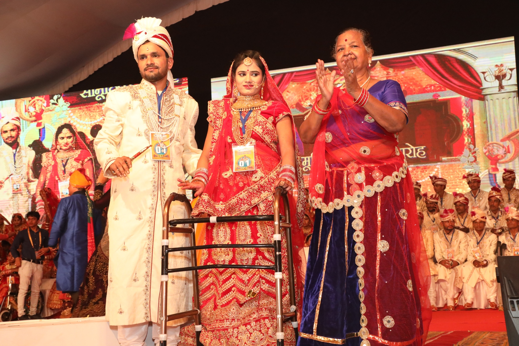 Divyang and underprivileged couples tie the knot at Smart Village in Narayan Seva Sansthan