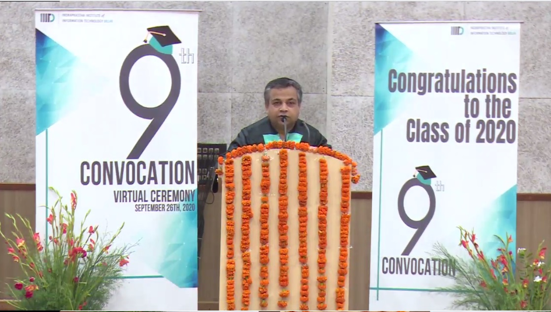 IIIT-Delhi held the Virtual Ceremony of its 9th Convocation